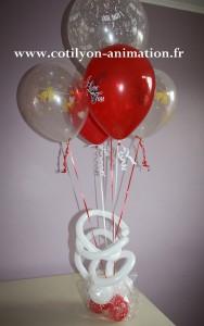 bouquet ballon coeur saint valentin lyon
