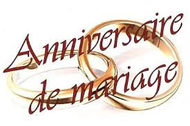 Anniversaires de mariage  «Ses différentes appellations»